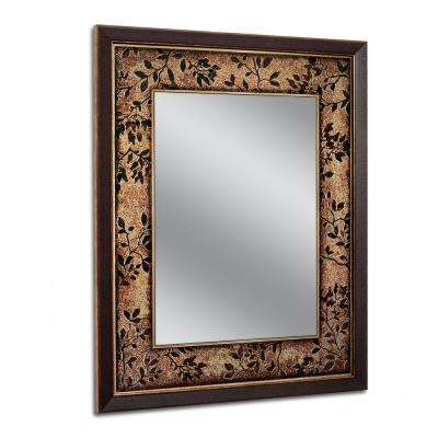 26.75 in. W x 32.75 in. H Copper Bronze Floral Petals Wall Mirror