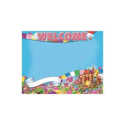 17 in. x 22 in. Candy Land Welcome Poster