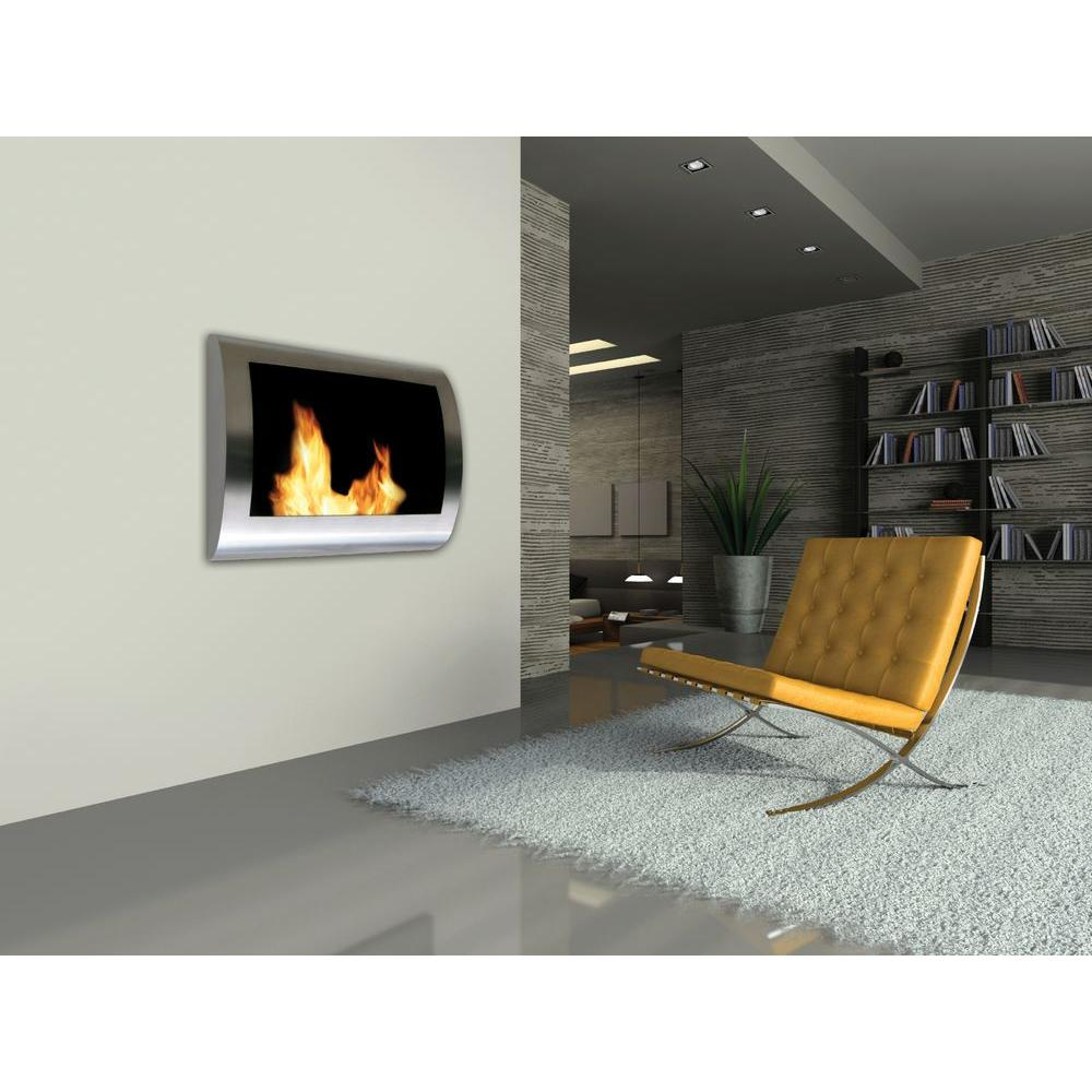 anywhere fireplace chelsea 28 in wall mount vent free ethanol rh homedepot com wall mounted ventless propane fireplace wall mounted ventless propane fireplace