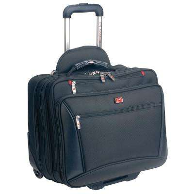 CompuTraveller-Wheeled Black Briefcase with Clothing Compartment for 16 in. Laptop