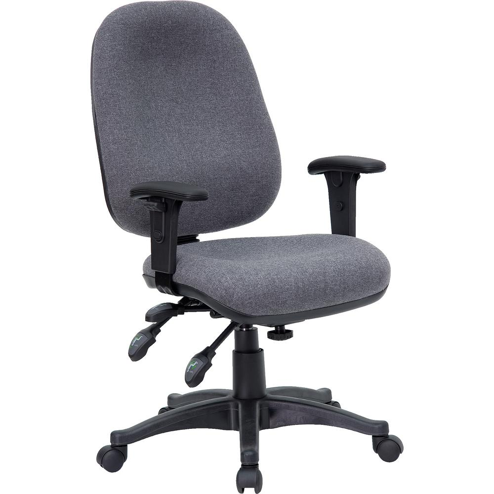 Flash Furniture Mid Back Multi Functional Gray Fabric Executive Swivel Office Chair
