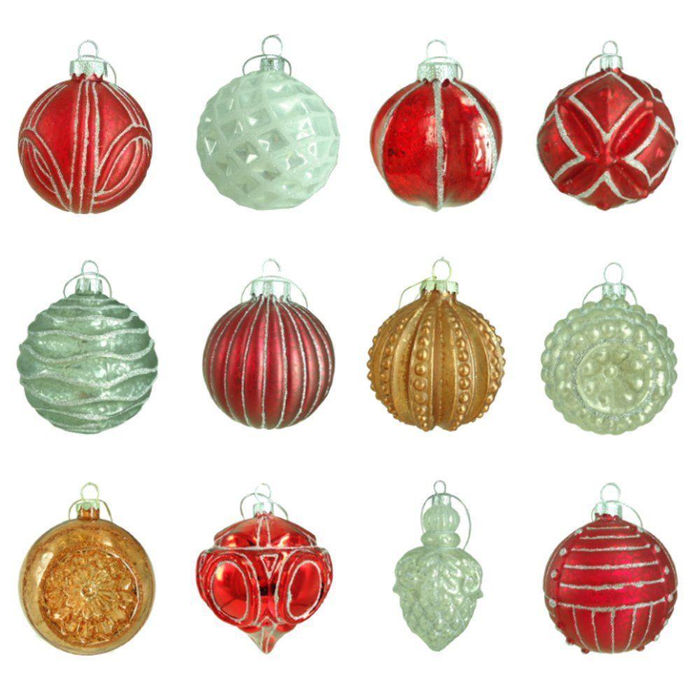 Religious Christmas Ornament Assortment: Martha Stewart Living 80 Mm Winter Tidings Assortment