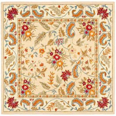 Chelsea Ivory 8 ft. x 8 ft. Square Area Rug