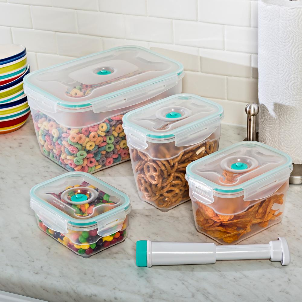 Vac 'n Save Food Storage Containers - Rectangular Set (9-Piece)
