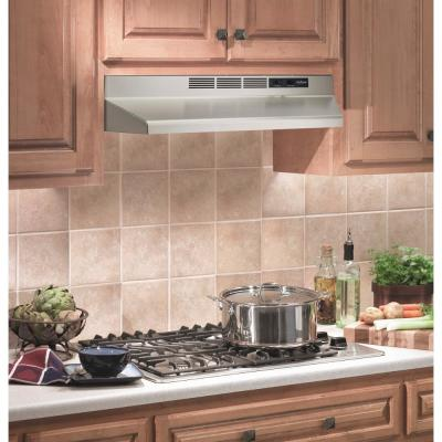 RL6200 Series 30 in. Ductless Under Cabinet Range Hood with Light in Stainless Steel