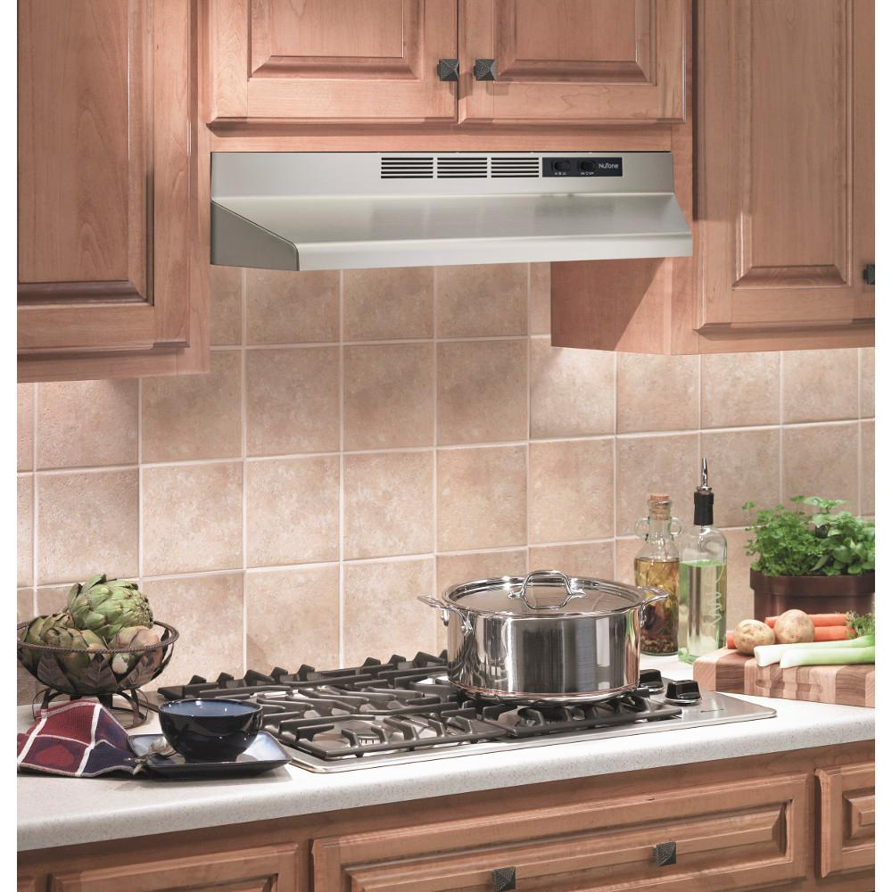 NuTone RL6200 Series 30 in. Ductless Under Cabinet Range Hood with Light in  Stainless Steel