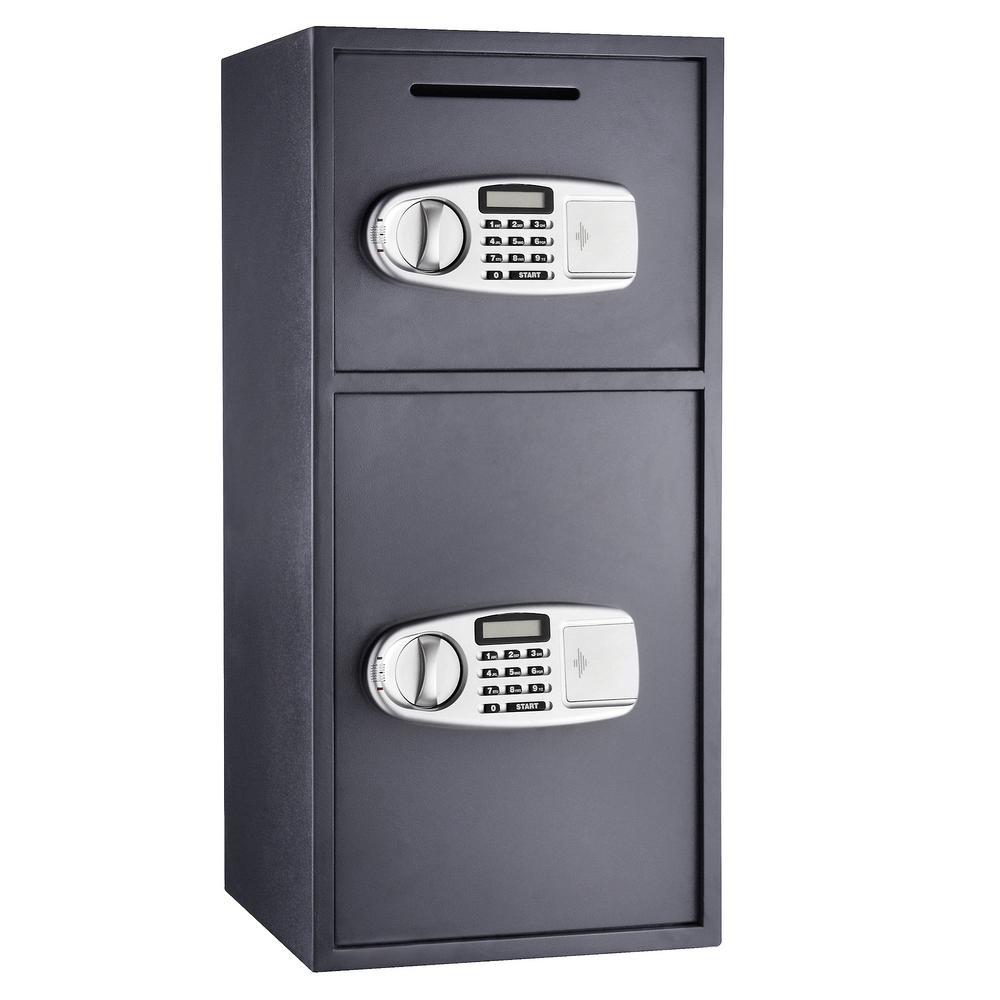 3.16 cu. ft. Lock and Safe Double Door Digital Depository Safe Cash Drop Safe Security