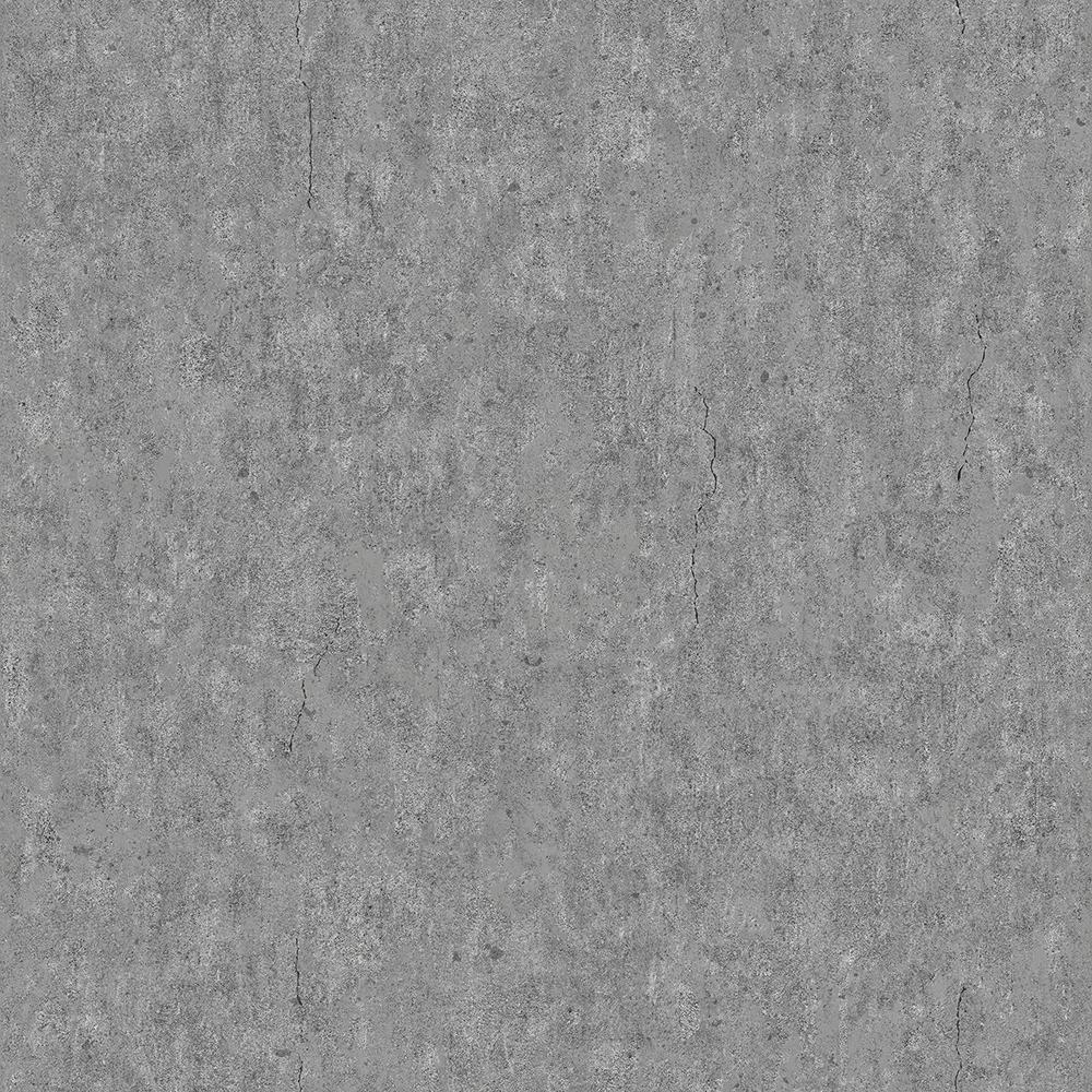 8 in. x 10 in. Raw Dark Grey Faux Concrete Wallpaper Sample
