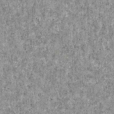 Raw Dark Grey Faux Concrete Paper Strippable Wallpaper (Covers 57.8 sq. ft.)