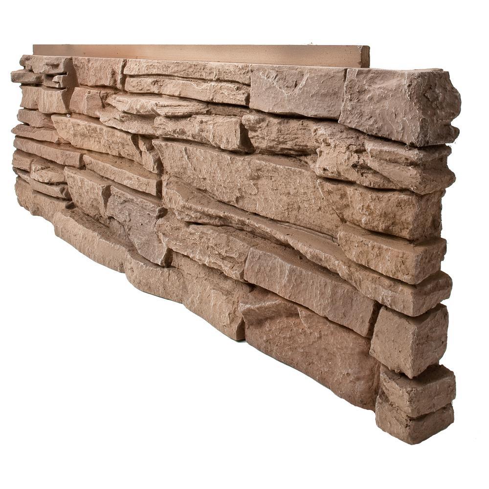 Stone Veneer Panels Home Depot : Genstone stacked stone desert sunrise in faux
