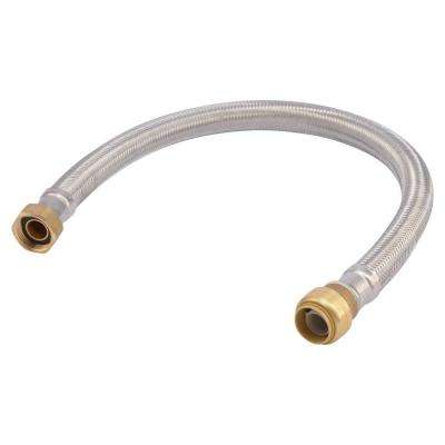 3/4 in. Push-to-Connect x 3/4 in. FIP x 24 in. Braided Stainless Steel Water Heater Connector