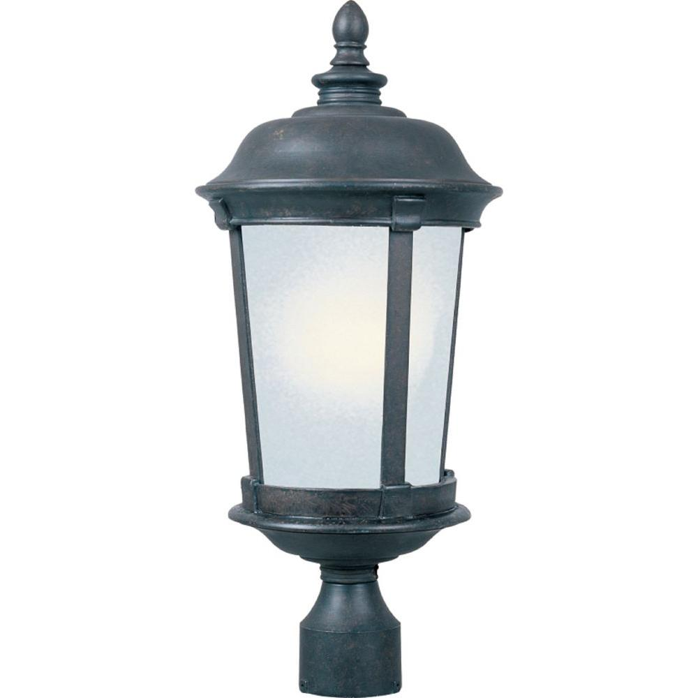 Maxim Lighting Dover Energy Efficient 1-Light Bronze Outdoor Pole/Post Mount Maxim Lighting's commitment to both the residential lighting and the home building industries will assure you a product line focused on your lighting needs. With Maxim Lighting accessories you will find quality product that is well designed, well priced and readily available. Maxim has fixtures in a variety of styles, and a strong presence in the energy-efficient lighting industry, Maxim Lighting is the clear choice for quality lighting.