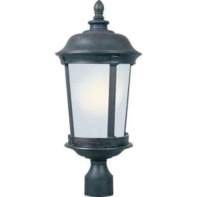 Dover Energy Efficient 1-Light Bronze Outdoor Pole/Post Mount