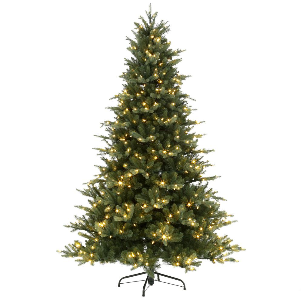 7.5 ft. Blue Noble Spruce Artificial Christmas Tree with 600 Clear ...