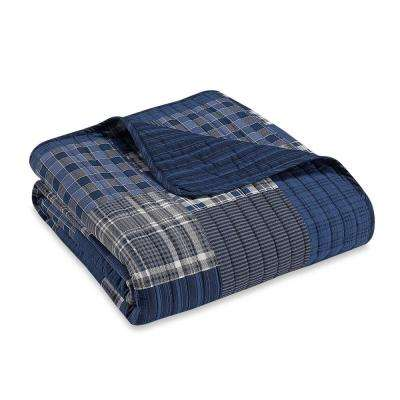 50 in. x 60 in. Eastmont Navy Quilted Throw