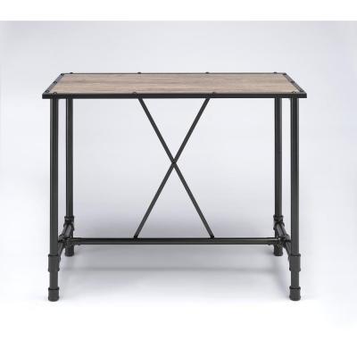 Caitlin Rustic Oak Pub/Bar Table