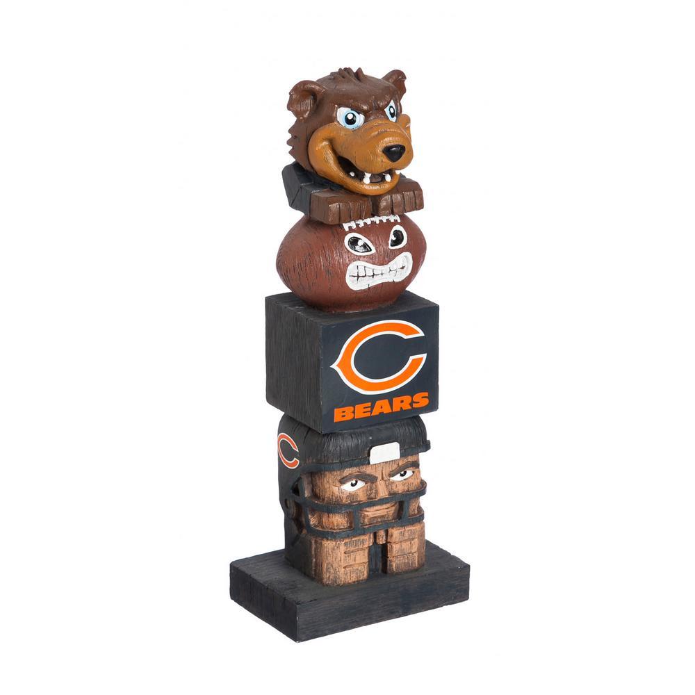 Chicago Bears Tiki Totem Garden Statue