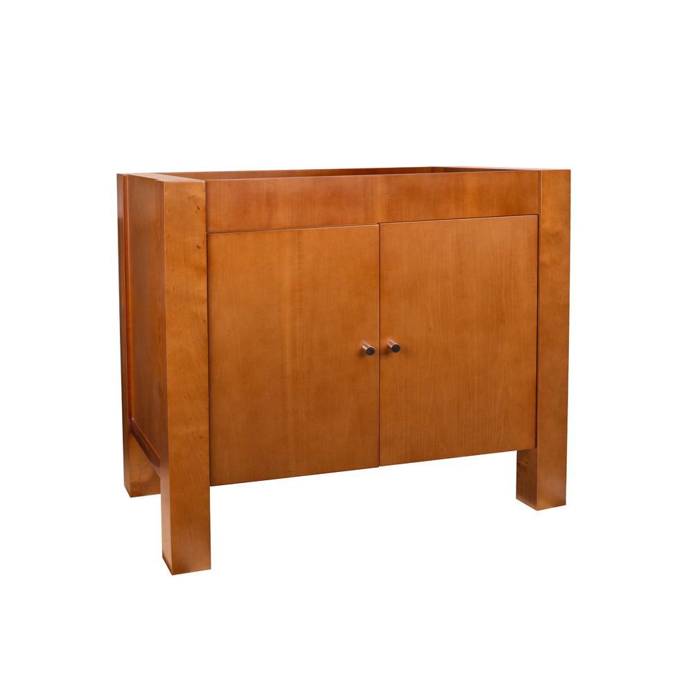 Devon 36 in. W x 30 in. H Vanity Cabinet in Cinnamon