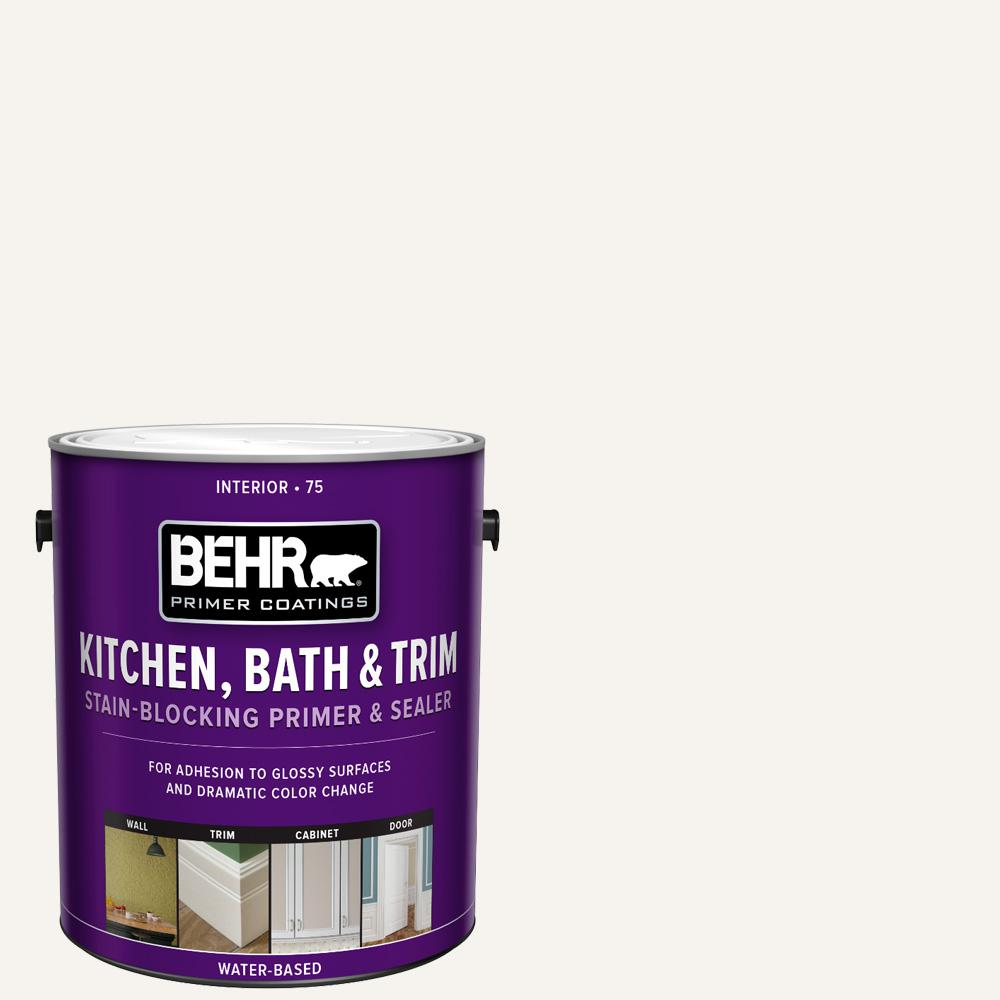BEHR 1 Gal. White Acrylic Interior Kitchen, Bath, and Trim Stain-Blocking Primer and Sealer