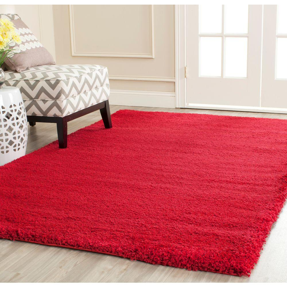 Safavieh Milan Shag Red 4 ft. x 6 ft. Area Rug