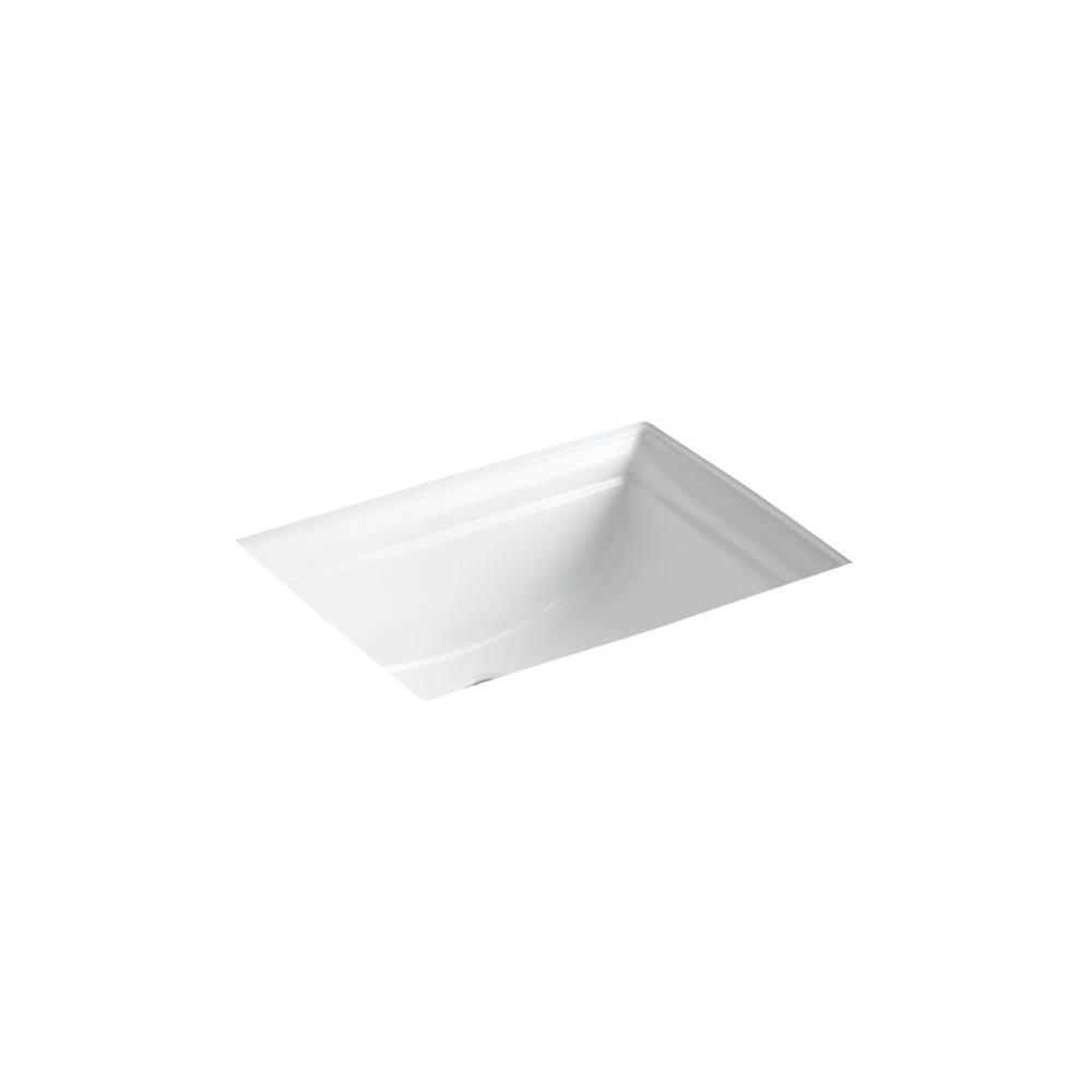 Memoirs Vitreous China Undermount Bathroom Sink in White with Overflow Drain
