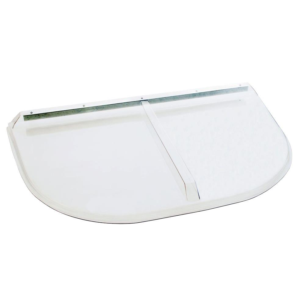 42 in. x 25 in. Polycarbonate Heavy-Arch Window Well Cover