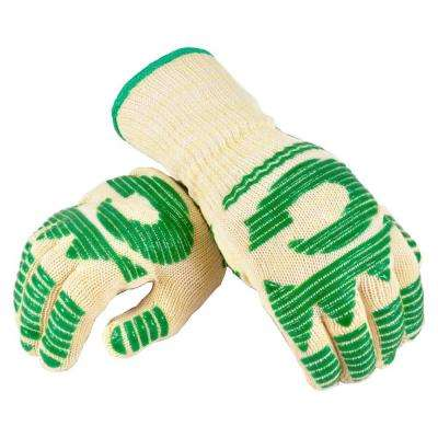 Large 13 in. Made of Nomex with Heat Stand upto 480 DegreeF Long Cuff Oven Gloves (2 Gloves Value Pack)