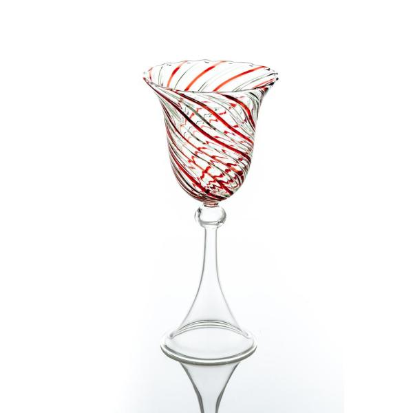 Red Swirl Water Glass (Set of 4)