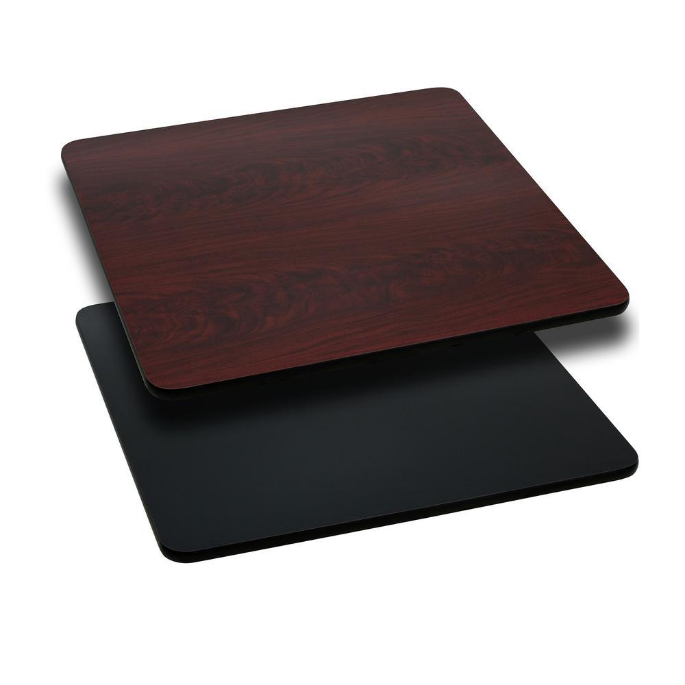 Black/Mahogany Square Table Top