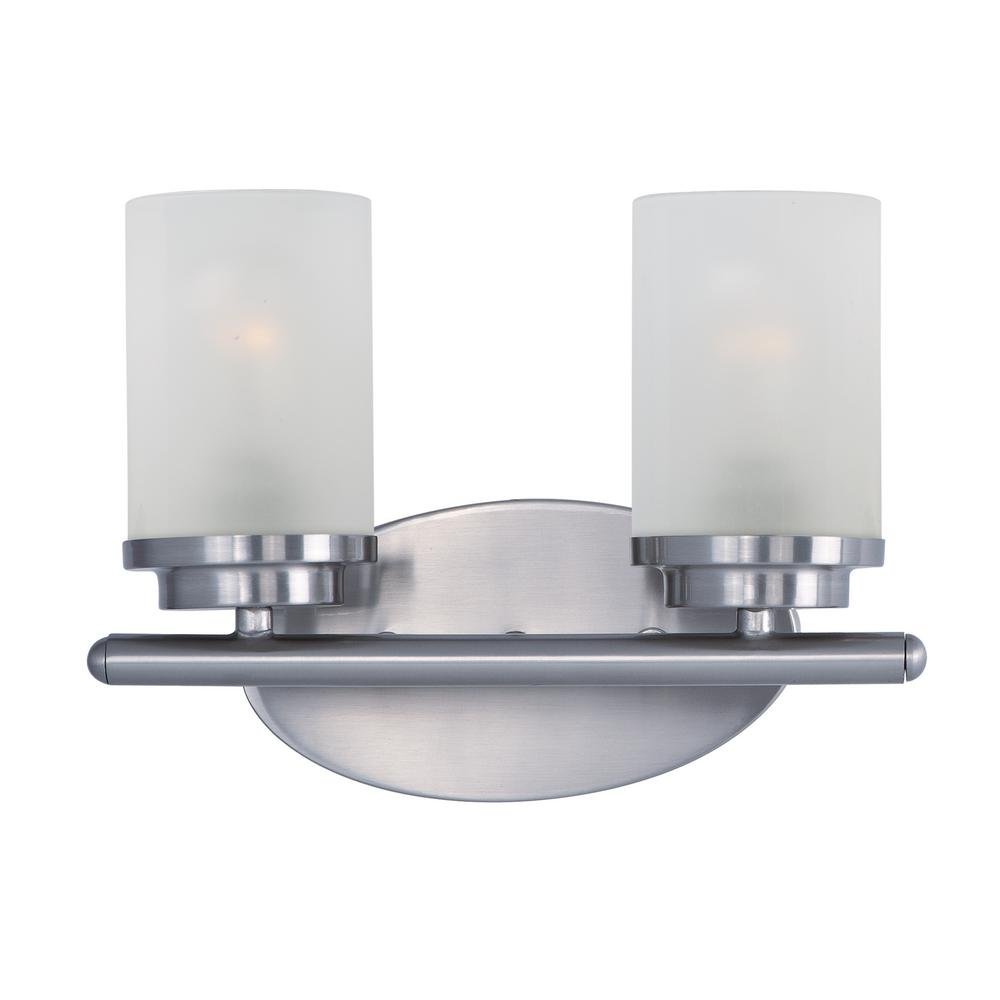 Corona 2-Light Satin Nickel Bath Light Vanity