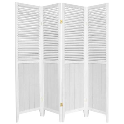 6 ft. White 4-Panel Room Divider