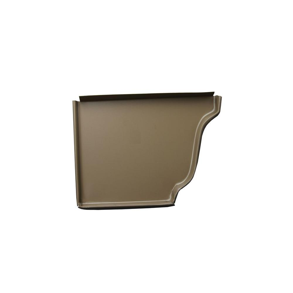 5 in. Cocoa Brown Aluminum Left End Cap