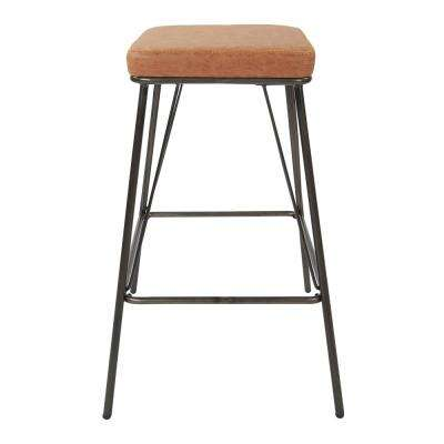 Mayson 26 in. Sand with Gunmetal Base Counter Stool (2 per Carton)