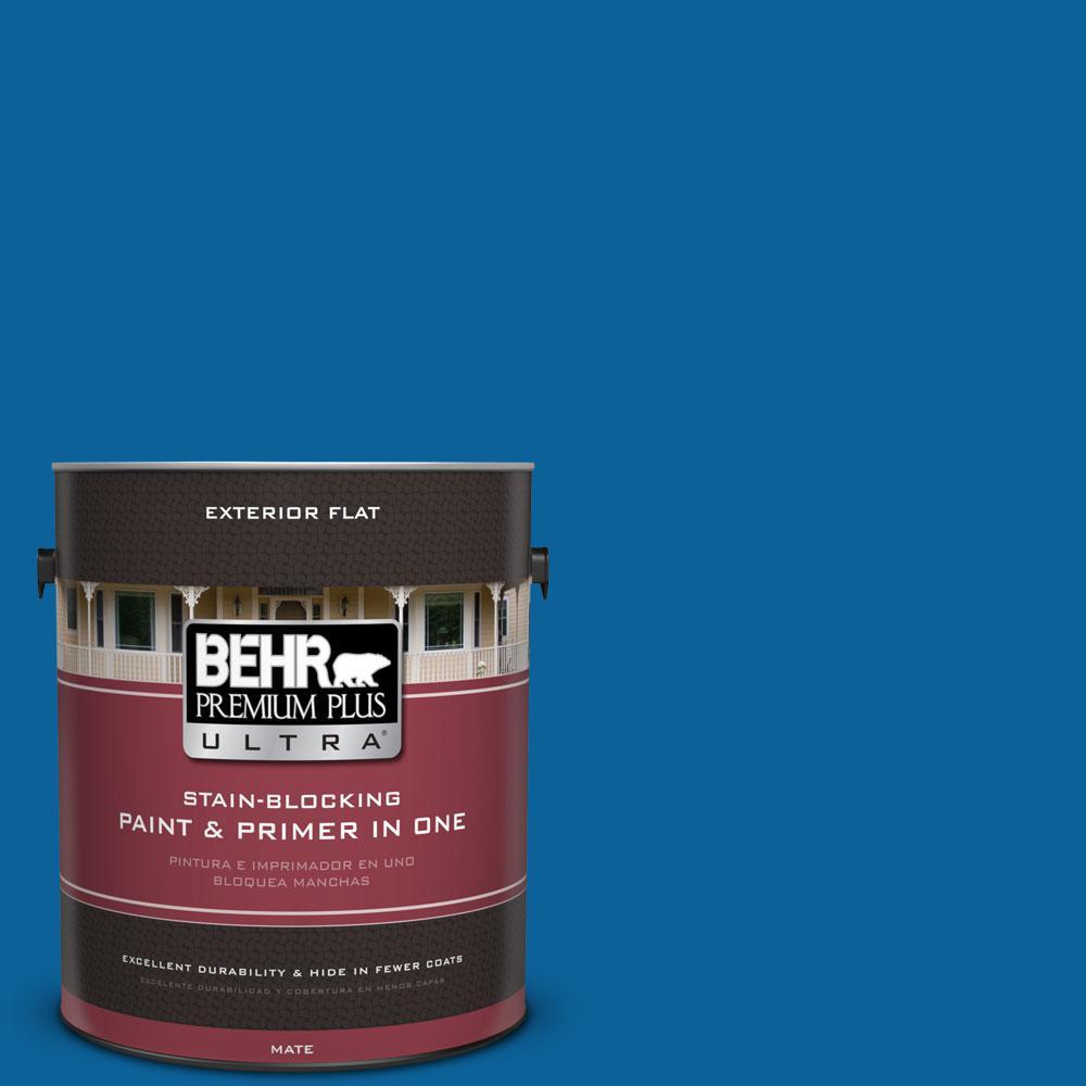 1 gal. #570B-7 Cobalt Glaze Flat Exterior Paint