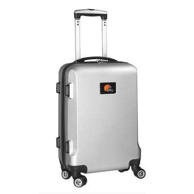 NFL Cleveland Browns 21 in. Silver Carry-On Hardcase Spinner Suitcase
