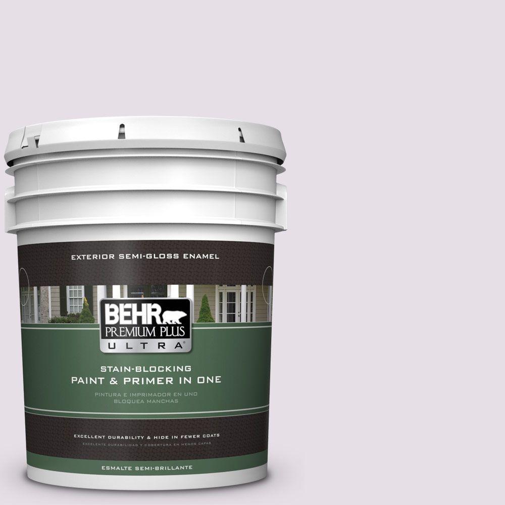 BEHR Premium Plus Ultra 5-gal. #670E-2 Pearl Violet Semi-Gloss Enamel Exterior Paint