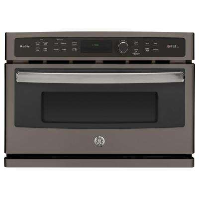 Profile 27 in. Single Electric Wall Oven with Advantium Cooking in Slate, Fingerprint Resistant