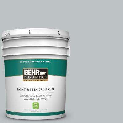 5 gal. #PPU26-18 Silver Mine Semi-Gloss Enamel Zero VOC Interior Paint and Primer in One