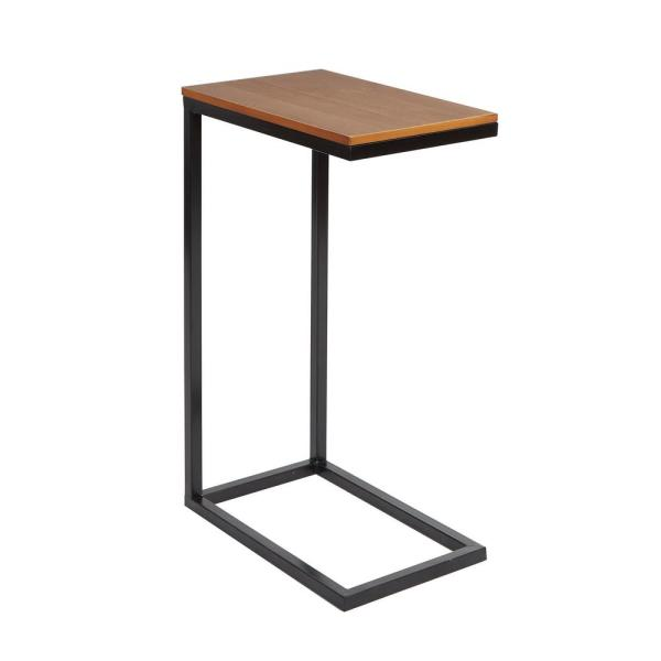 Bryson Brown and Black C Accent Table