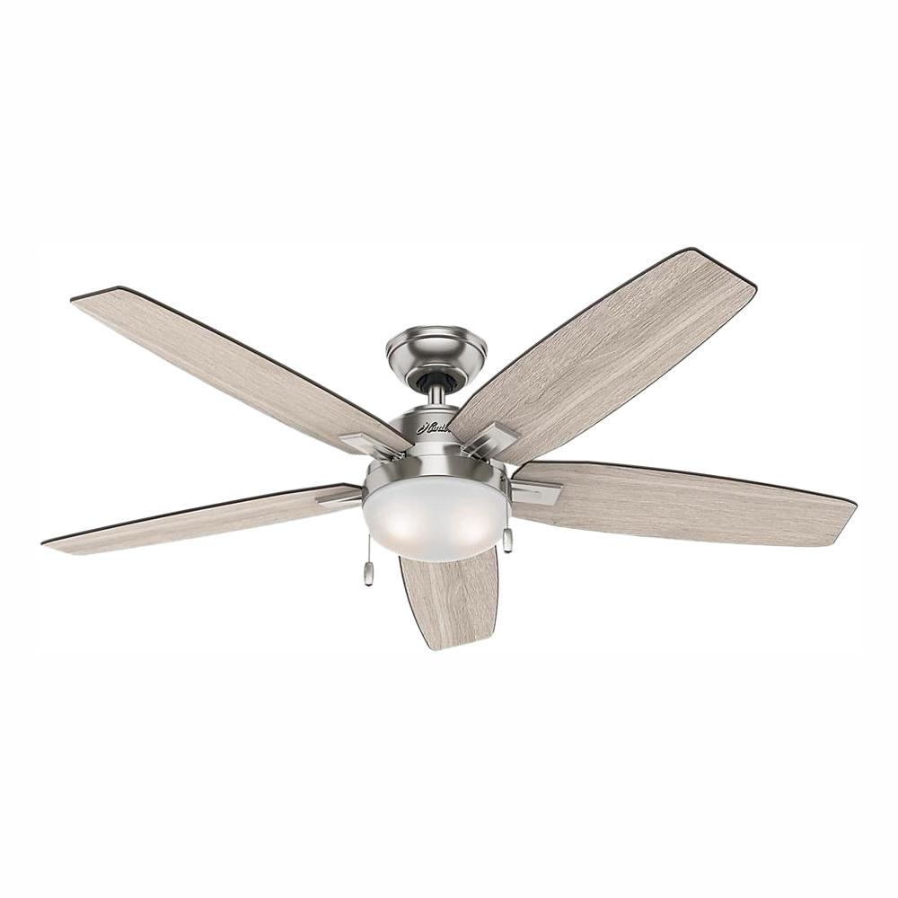 Hunter Antero 54 In Led Indoor Brushed Nickel Ceiling Fan