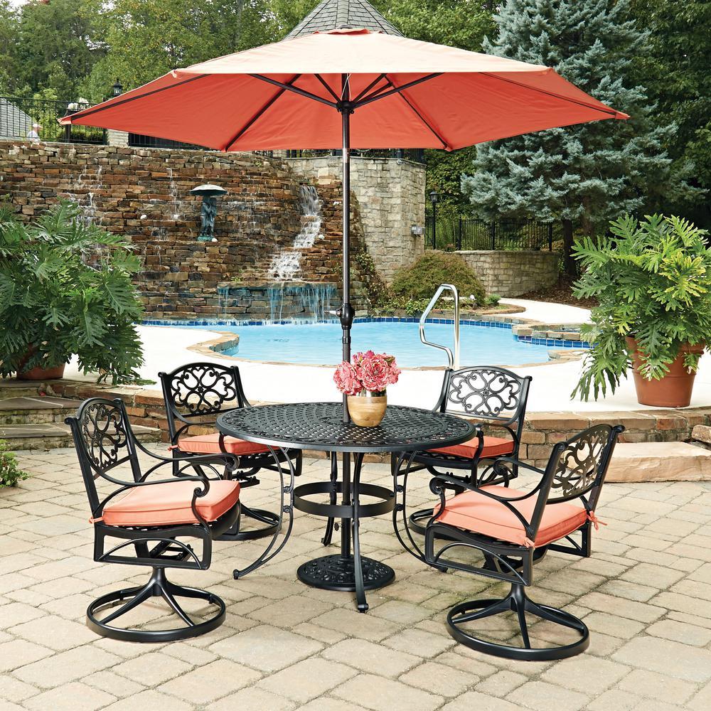 Home Styles Biscayne Black 7 Piece Cast Aluminum Outdoor