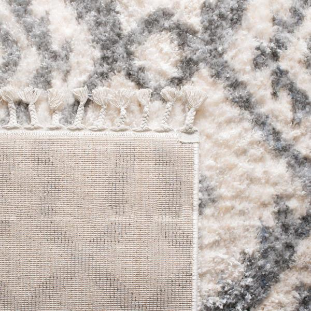 Safavieh Berber Fringe Shag Cream Gray 8 Ft X 10 Ft Area Rug Bfg611a 8 The Home Depot