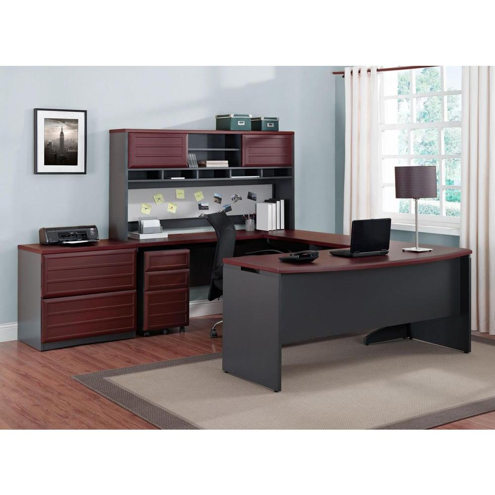 Altra Furniture Pursuit Cherry And Gray Desk 9319196 The