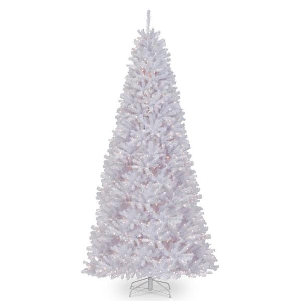 12 ft. North Valley White Spruce Tree with Glitter and 1200 Clear Lights