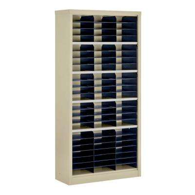 72 in. H x 34.5 in. W x 13 in. D Steel Commercial Literature Organizer Shelving Unit in Putty