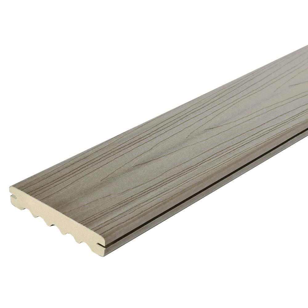 Veranda ArmorGuard 15/16 in. x 5-1/4 in. x 20 ft. Seaside Gray Grooved Capped Composite Decking Board