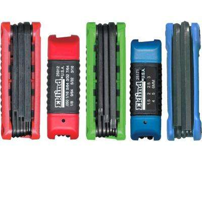 Combination Ergo-Fold Fold-up Set Sizes0.050 in. to 3/8 in. and Size 1.5 to 10 and Torx Sizes T8 to T40 (36-Piece)