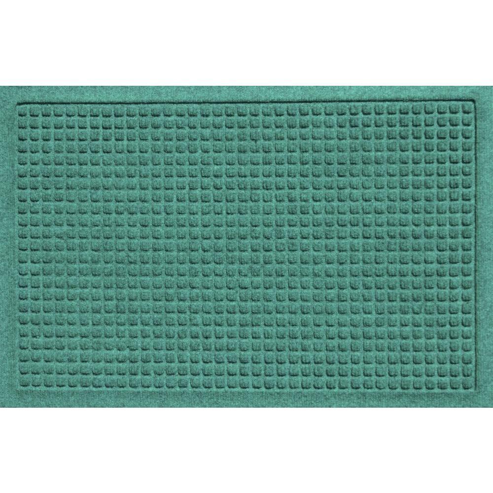 Bungalow Flooring Aqua Shield Squares Aquamarine 17.5 in. x 26.5 in. Door Mat