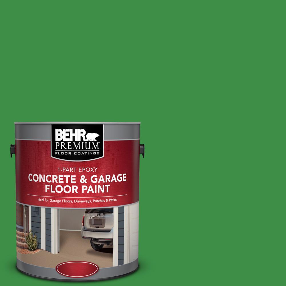 1 gal. #P390-7 Park Picnic 1-Part Epoxy Satin Interior/Exterior Concrete and Garage Floor Paint