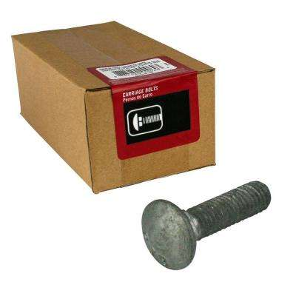 5/16 in. - 18 tpi x 3-1/2 in. Galvanized Coarse Thread Carriage Bolt (25-Piece per Box)